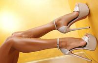 High heel shoes women ultra high platform sexy shoes patent leather women heels sandal shoes