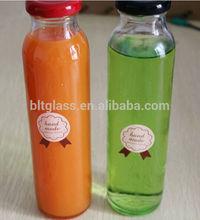 300ml-500ml fruit juice glass bottle airtight glass bottle and lids