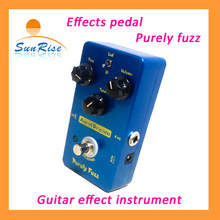 AuralDream Purely Fuzzy Effects Pedal-Blue color True Bypass high quality guitar effects instrument