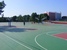 Silicon PU Outdoor Sports Surface Material For Volleyball Court Sports Flooring