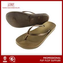 Coface Plastic Bronze Golden Customized Latest Fashion Sandals