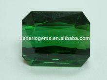 #AEZ Natural Emerald Cut Loose Gemstone Green Tourmaline