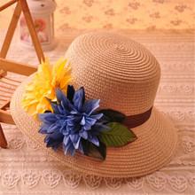 Wholesale Classic Cute Bowknot Women Straw Cloche Ladies Sun Hat Fedora Caps Womens Bucket Hats Summer Beach Straw Cap Headwear