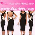 Grossista sexy preto livre de baile ver- através de casal vestido bandage