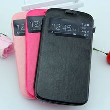 newest leather cover case for samsung galaxy trend s duos i7562