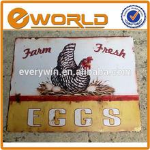 TIN SIGN Eggs Farm Fresh Metal Decor Wall Art Vintage Rustic Store Kitchen Bar