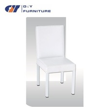 White Elegant PU Faux Leather Dining Chair For Living Room