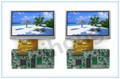 Fábrica 4.3 pulgadas claro pequeño led de visualización de vídeo de pantalla/micro módulo de visualización