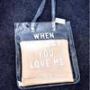 2014 wholesale beautiful waterproof women plastic transparent pvc beach bag , crystal handbag