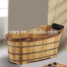 (069A) oak wood low price wooden bathtub price