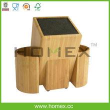 Good quality superior kitchen knife block/knife holder/HOMEX-FSC,BSCI