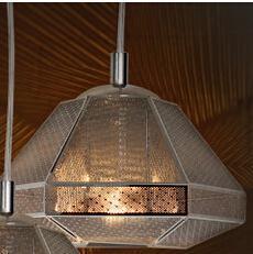 modern design cell tall stainless steel silver pendant lamp indoor lighting