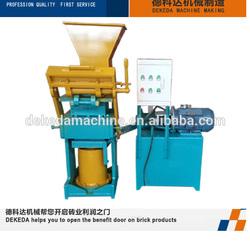 DK2-40 small Hand press soil interlocking brick making machine malaysia