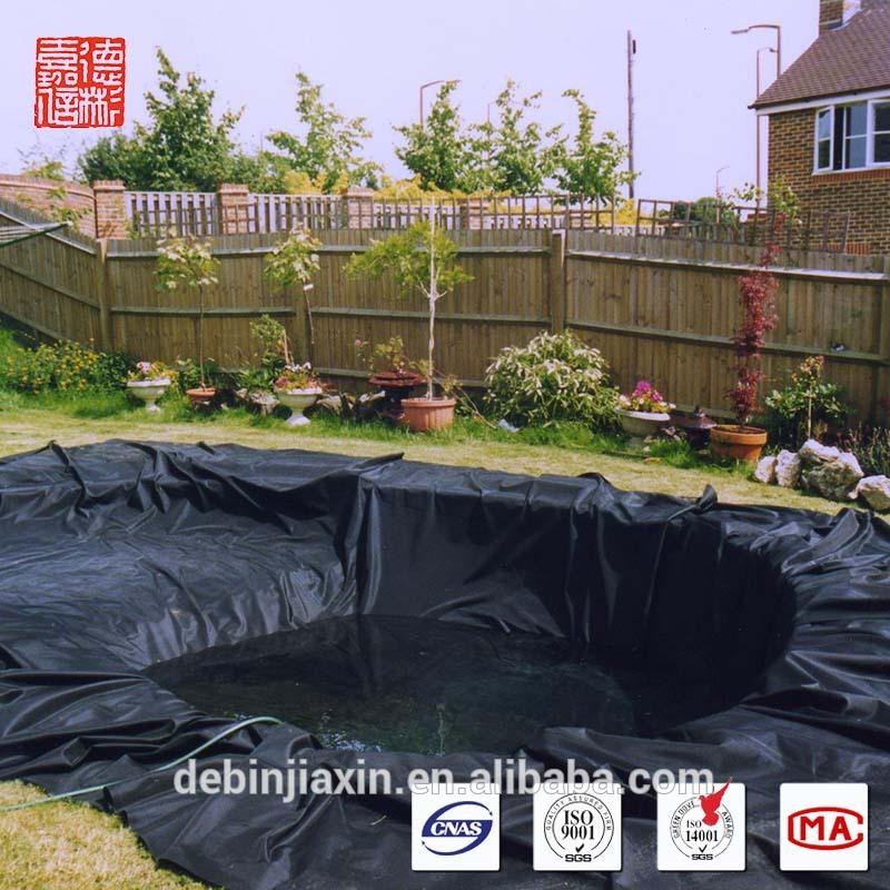 Hoge kwaliteit zwarte hdpe vijverfolie voor vissen zwembad geomembranen product id - Zwarte pool liner ...