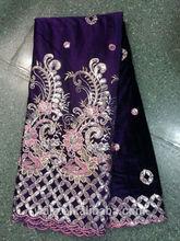 new charming party velvet fabric,velvet lace VL7913-2