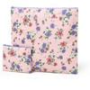 korean modern flowery nylon makeup bag for promotion