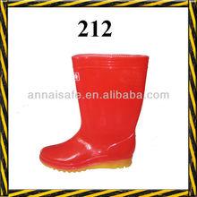 red pvc rain boot/woman rain shoes/beautiful rain boot