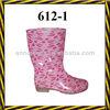 young ladies fashionable rain boots/pvc rain boot/pvc transparent rain boots/woman pvc boots