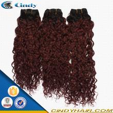 wholesale cheap remy 3 bundles natural brown 100 percent virgin brazilian deep two tone curly darling human hair weaving