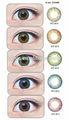 Hotsale barato geo wt-b74 marrón lentes de contacto cosméticos realizados por médicos geo
