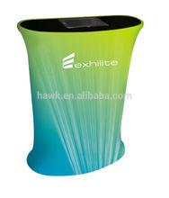 Portable TFTube Tension tissu comptoir de réception avec IPAD boîtier - 3D-99CIPAD