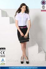 Camicia donne, di affari alla moda camicia a maniche corte, camicia donna disegno, il prezzo competitivo, srm-de-32