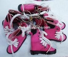 Fashion Boots Shoes Keychains & wholesale mini bulk shoes key chain