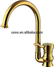 Gold plating kitchen faucet mixer DG1013