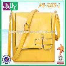Korean 2015 New Design lady yellow handbag Europe fashion handbag tote bag