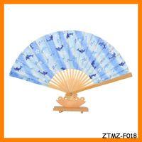 Free Shipping Japanese Dolphin Bamboo Cotton Folding Fan Wholesale ZTMZ-F018