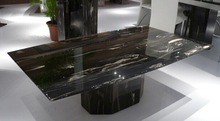 Black Silver Dragon Marble Table