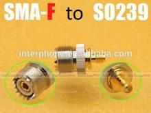 SMA-female SO239 radio adapter, PX-888K KG-UVD1P TG-UV2 UV-B5 UV-B6 FD-880 TH-F8 ,antenna connector
