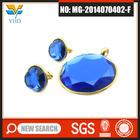 Wholesale custume royal new design Blue stone fashionable cheap jewelry set