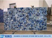 Translucent panel blue agate semiprecious stone slabs blue agate slabs