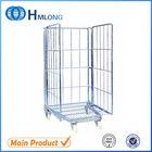 Rolling metal storage cage for super market