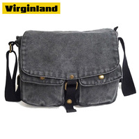 2015 Hot Sale Fashion 1 piece Denim Canvas Shoulder Messenger Bag with Single Strap for Teenagers