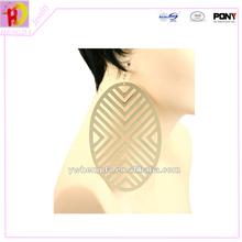 2014 fashion design big circle earring hollow out earring