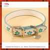 Heart Pendant Flower PU Dog Collar