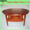 Hot sale oval madeira maciça mesa de jantar