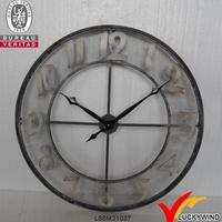 round recycle metal antique outdoor wall garden clocks