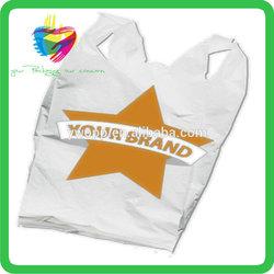 Yiwu hdpe wholesale custom t-shirt plastic bag for shopping