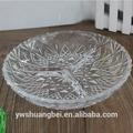 Ronda en forma clara plato de frutas de vidrio barato, placa decorativa
