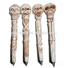 Custom Cheap Resin Halloween Skull Decorative Ballpoint Pen