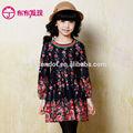 flor niñas vestidos de fabricación china proveedor en otoño y el invierno