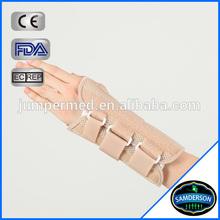 Neoprene adjustable beige fitted wrist wrap carpal tunnel wrist support