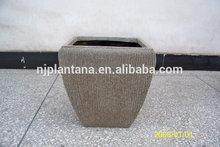 garden urn planter wholesale sand blast pot,fiberglass pot with sand blast finish