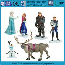plastic frozen pvc figure, 3d cartoon frozen elsa toys, custom frozen figure cake toppers