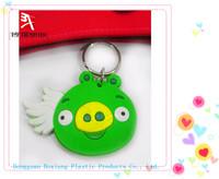 corporate giveaways cute cartoon bird turbo rubber key chain / pvc keychain