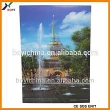 2014 Famous Building Travel Souvenir Postcard,3D Lenticular Pictures of Scenery