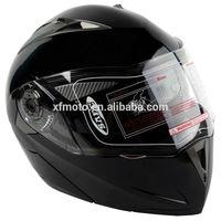 DOT Gloss Black Modular Flip Up Dual Visor Sun Street Motorcycle Helmet S M L XL